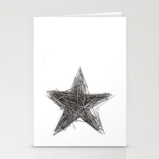 Set of folded stationery cards printed on bright white, smooth card stock to…