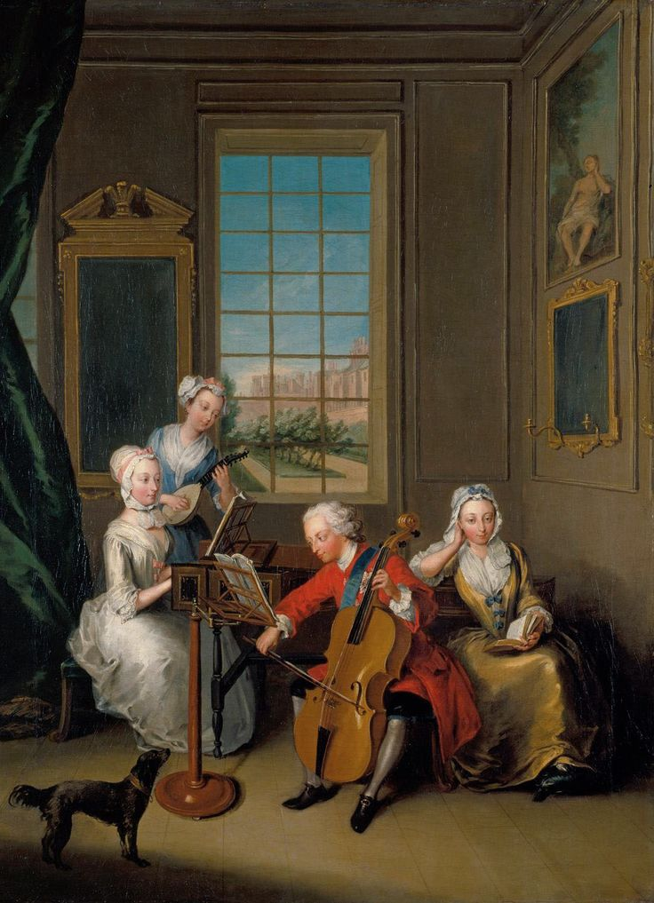 Philippe Mercier (1689-1760) - 'The Music Party': Frederick, Prince of Wales…