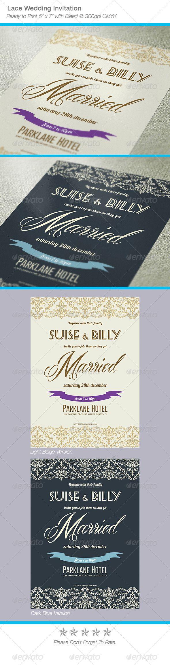 wedding invitation design psd%0A Lace Design Wedding Invitation