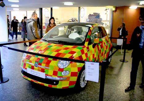 FIAT customized during the Milan Design Show #fiat #saffordfiatfredericksburg