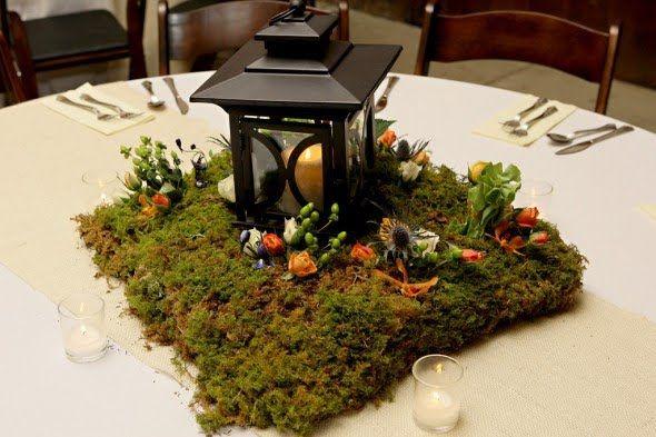 Best images about centerpieces wood slab lantern on