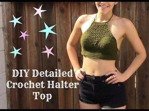 Detailed Crochet Halter Top - YouTube