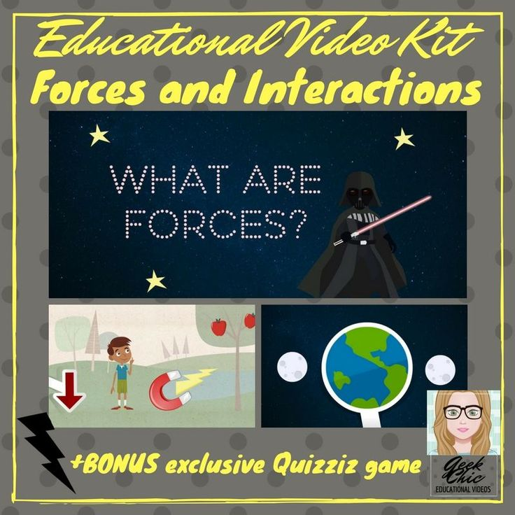 Get students excited about FORCES AND INTERACTIONS. This is a short (2 and a half minute) HD QUALITY educational video on the four fundamental forces.Also included:�-Powerpoint slideshow of the video slides-written transcript of the video text-worksheet + answer key BONUS: exclusive access to a 10 question Quizziz quiz directly related to the video, a link is provided in the PDF attachment. This quizziz cannot be accessed publicly!
