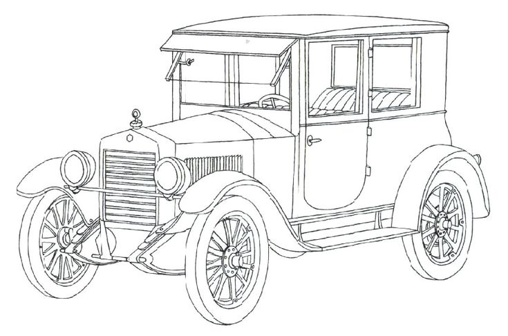 vintage car coloring pages - photo#38