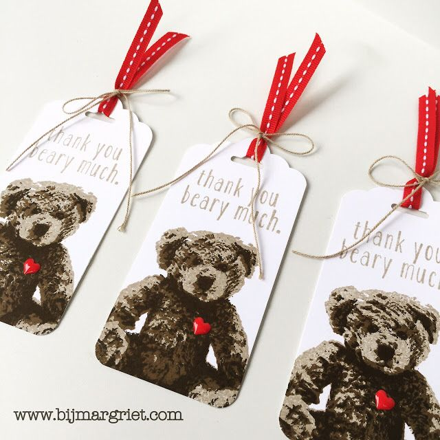 Bij Margriet; Stampin' Up!, Baby Bear, Tag