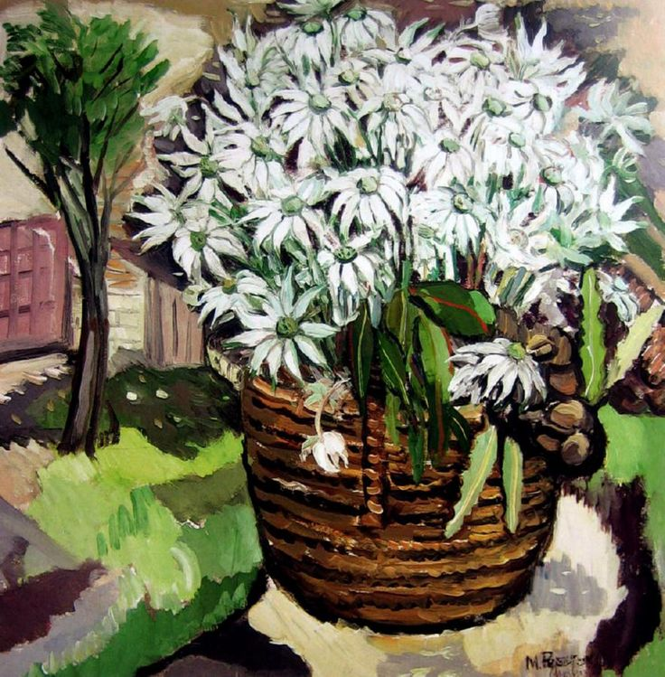 Margaret Preston, Flannel Flowers 1940