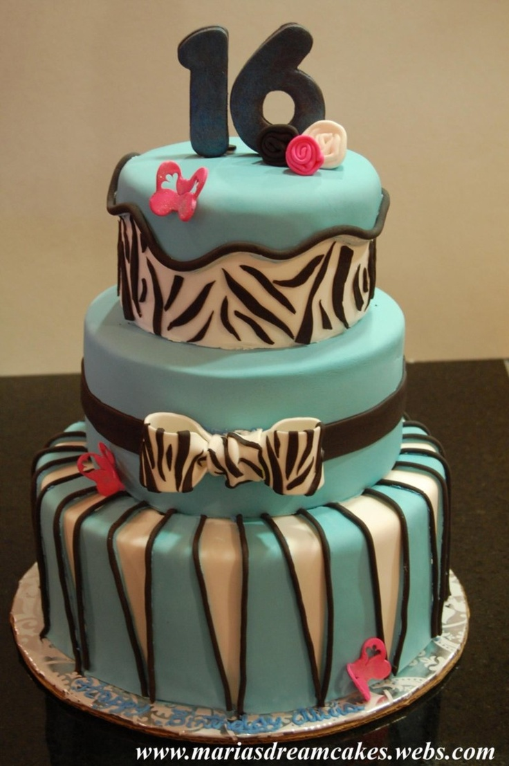 1000 Images About 16th Birthday Cakes On Pinterest