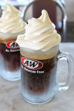 A&W Root Beer was even better when mixed with ice cream in a root beer float. No other drink goes quite as well with ice cream as root beer.