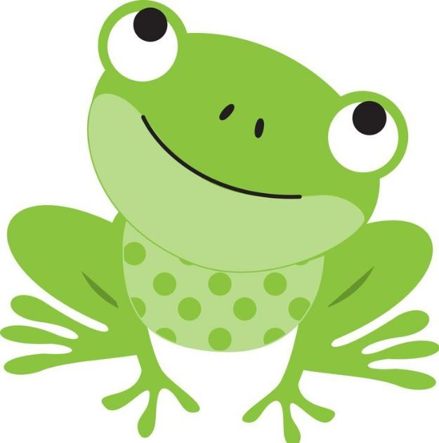 Frog simple. Cute clipart tattoos illustration