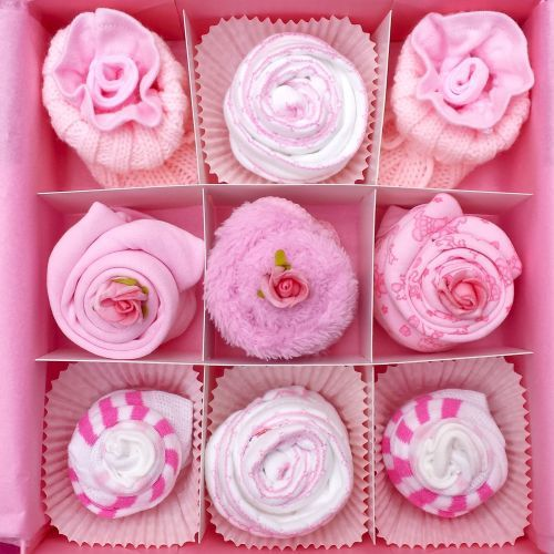 Pink Deluxe New Baby Girl Gift Hamper | Keepsake | Baby Clothes | Christening Present