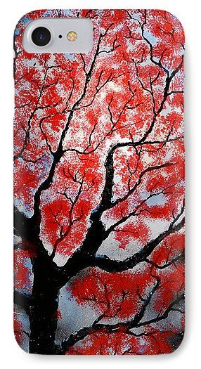 Spring IPhone 7 Case Printed with Fine Art spray painting image Spring by Nandor Molnar (When you visit the Shop, change the orientation, background color and image size as you wish)