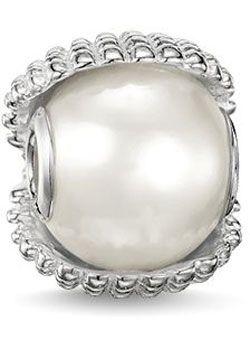 Thomas Sabo K0151 Charm Bead Muschel Perle weiß Silber