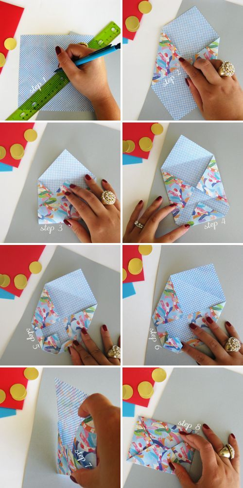 How to make an origami envelope for a gift