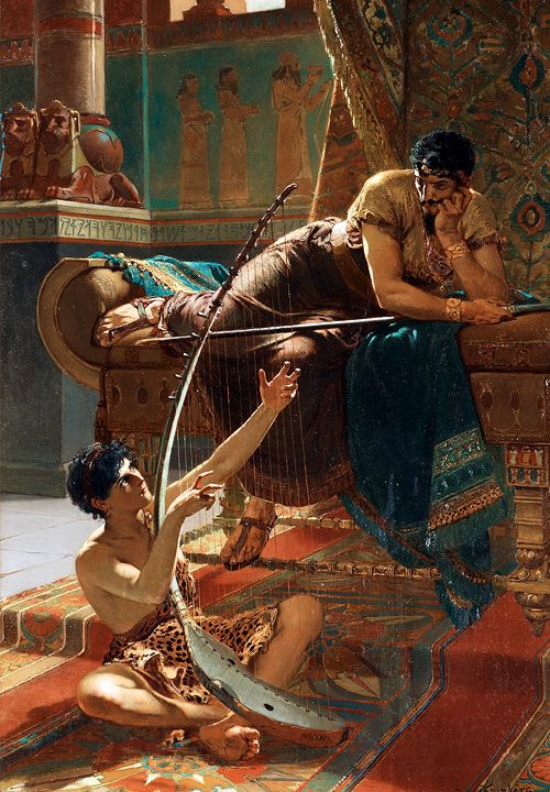 David and Saul (1885) - Julius Kronberg. They were besties at the beginning. Would love to hear David's tunes