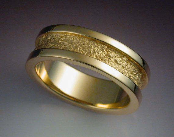 ...  Red gold weddings, Mens gold wedding bands and Gold wedding rings