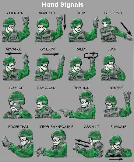 señas para soldados
