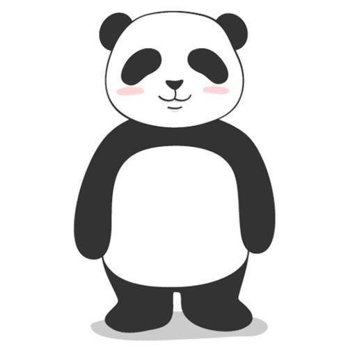 Панда картинки анимации, открытка поздравляю