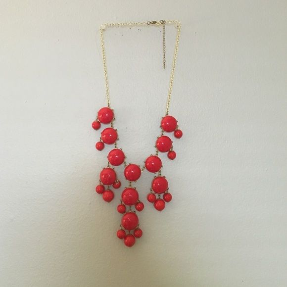 Red bubble necklace with gold accent Red bubble necklace with gold accent Jewelry Necklaces