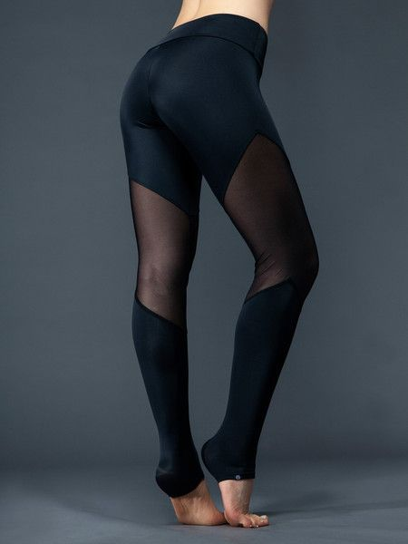 Bottoms - Onzie Track Legging - Black Mesh