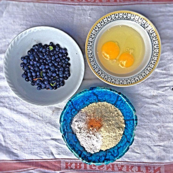 Blueberry Pancakes with Almond Flour (Gluten Free)