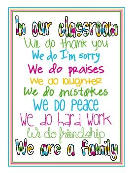 Our Classroom - Poster
