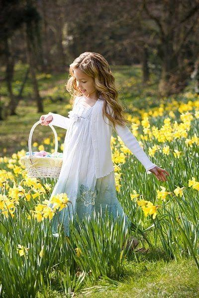 walking thru the daffodils in Springtime :-)