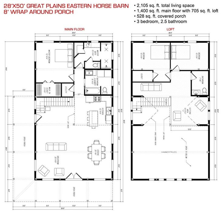 Floor plan pre designed great plains eastern horse barn for Pre designed home plans