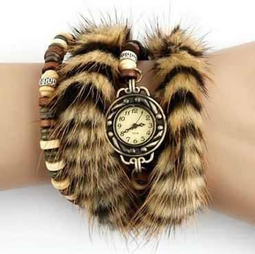 Material: Leather, Alloy, Wooden Beads Water Resistance Depth: 30 m Movement: Quartz Dial Diameter: 0.98 inch Band Width: 0.39inch Band Length: 9.84 inch