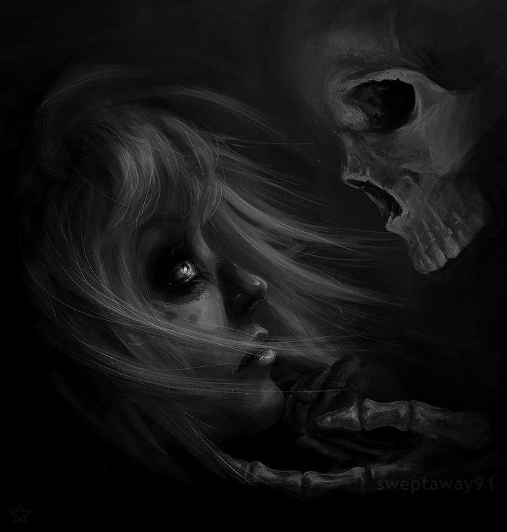 Dark art skull