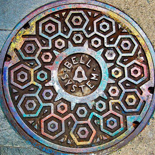 San Francisco, USA. Manhole cover.