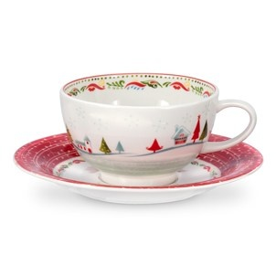 Portmeirion Christmas WIsh Breakfast Cup and Saucer