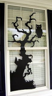 Creatively Lori: It's Beginning to Look a Lot Like Halloween: Window Silhouettes