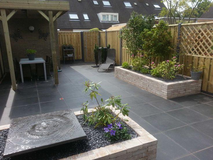 25 beste idee n over kleine tuin ontwerpen op pinterest for Moderne waterpartijen tuin