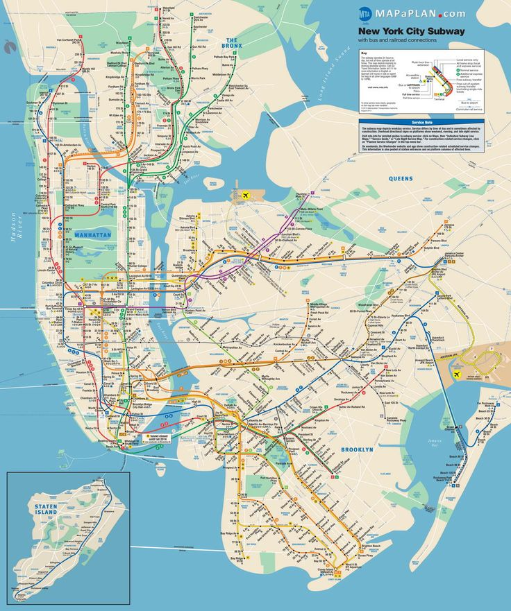 new york city subway metro underground tube map