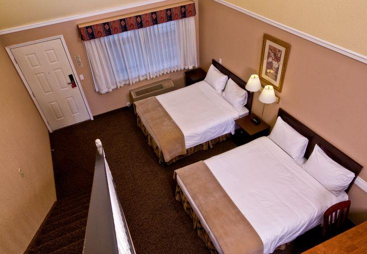 3 queen loft suite @ Kelowna Inn & Suites.  1.800.667.6133 www.KelownaInnandSuites.com