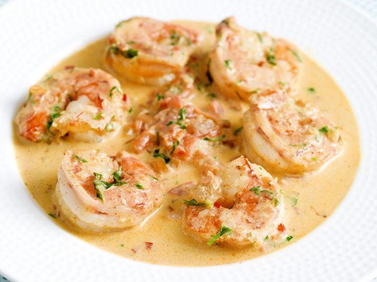 Scampi's in pittige tomatenroomsaus
