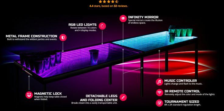 LED Beer Pong table!