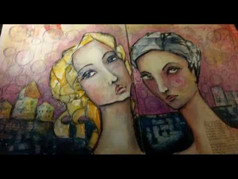 """Artjournal page """"Side by Side"""" about Friendship, destination and time"""