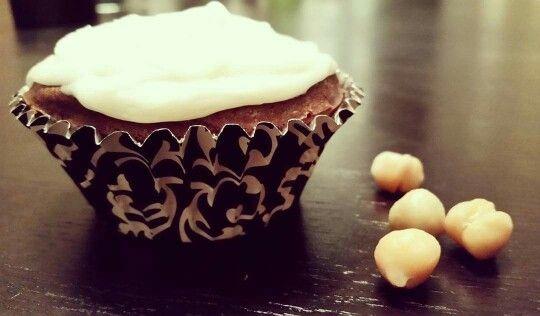 Gluten-free chocolate  chickpea  cupcake