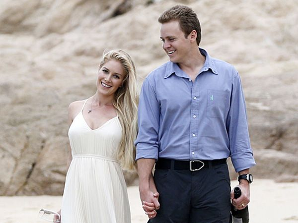Heidi Montag and Spencer Pratt celebrate their fifth wedding anniversary with a staged photo shoot. They are seen taking a romantic scroll on the beach in this picture. This is the spot where they eloped in 2008, in Cabo San Lucas. Meili W.