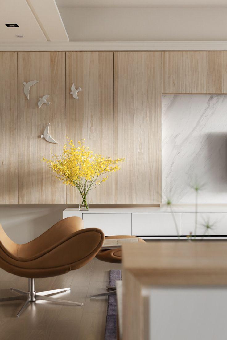 Просторная квартира в столице Тайваня от дизайнерской студии Hey!Cheese. Спокойный и тёплый интерьер квартиры - это то самое, что поможет о...