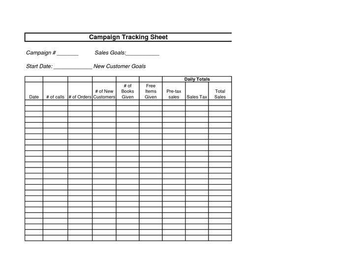 Avon campaign tracking sheet business forms and