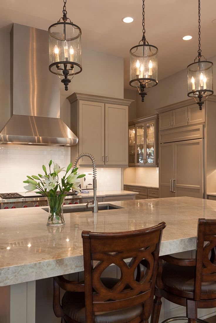 Lantern Lights Over Kitchen Island