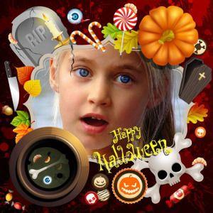 Marcos de Halloween para Niños. Crea Gratis bonitos Collages con tus mejores fotos. #halloween #happyhalloween #calaveras #calabazas #collageshalloween #halloweenframes