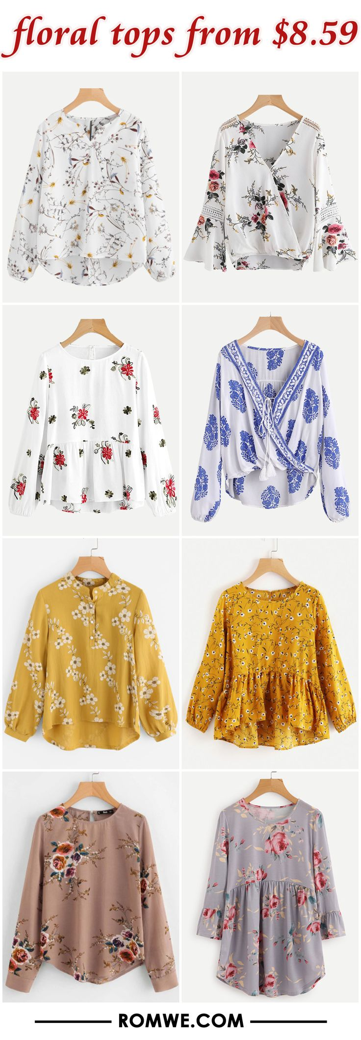 Loving the last two floral tops