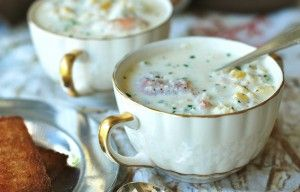 Corn, Crab & Shrimp ChowderSeafood Chowders, Corn Crab, Seafood Corn Chowders, Shrimp Corn Chowder, Shrimp Chowders, Andrew Rooms, Crabs And Shrimp Recipe, Seafood Chowder Recipe, Chowders Recipe