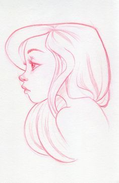 easy pencil drawings of girls faces - Google Search