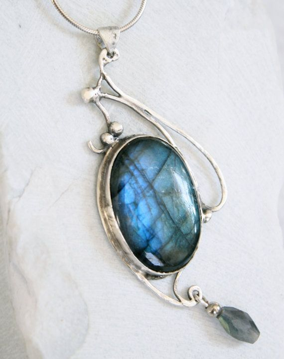 Bohemian Jewelry Metalwork Jewelry labradorite by CocaCreek, $75.00