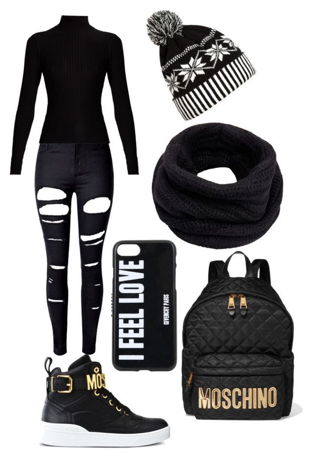 Demonia by niko-arce-olate on Polyvore featuring polyvore, fashion, style, Acne Studios, WithChic, Moschino, Helmut Lang, Givenchy and clothing
