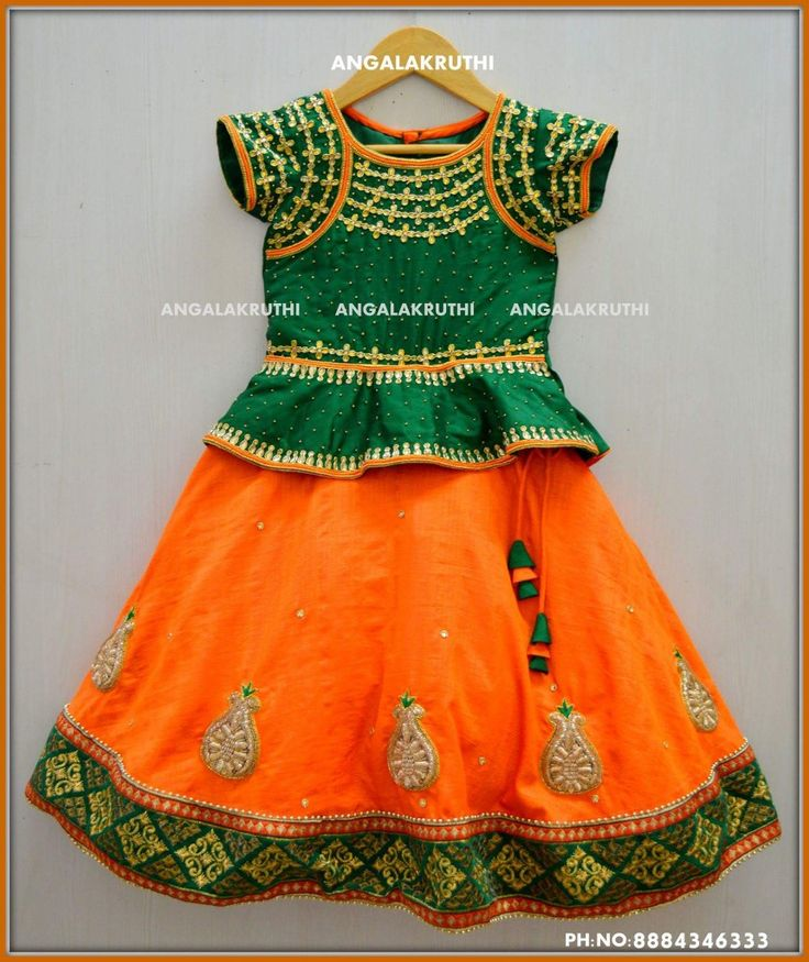 Kids tradational frock designs by Angalakruthi boutique Bangalore  Kids tradational wear with Rich hand embroidery  Peplum frock designs by Angalakruthi